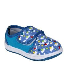 Myau Sneaker Shoes Floral Print - Blue