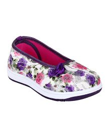 Myau Floral Design Bellies - Purple