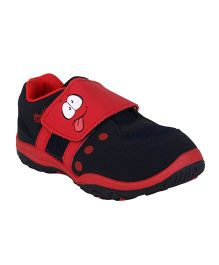 Myau Casual Shoes Slip On Style Face Design - Red
