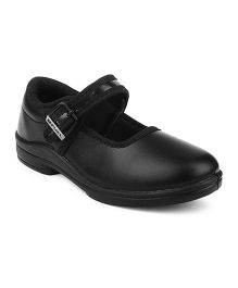 Fuel Girls School Shoes Slip On Style - Black