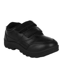 Fuel Formal School Shoes Slip On Style - Black