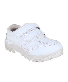 Fuel Formal School Shoes Slip On Style - White
