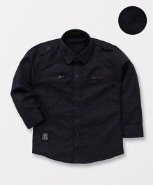 Robo Fry Full Sleeves Party Wear Shirt - Dark Navy