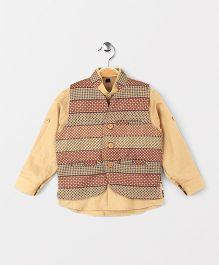 Robo Fry Full Sleeves Shirt And Jacket - Fawn