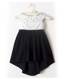 Nitallys Hi Lo Dress - Black White