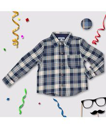 CrayonFlakes Check Shirt - Navy Blue