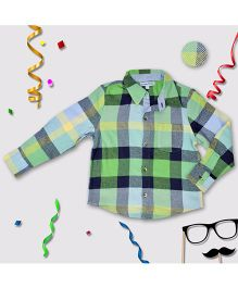 CrayonFlakes Check Shirt - Green