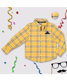 CrayonFlakes Check Shirt - Yellow