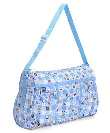 Mee Mee Nursery Bag Bunny Bear Print - Light Blue