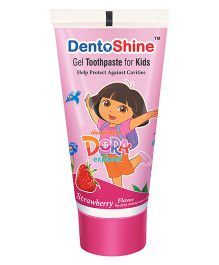DentoShine Dora Gel Tooth Paste For Kids Strawberry Flavour