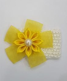 Blingozz Handicrafts Kanzashi Flower Soft Head Band - Yellow