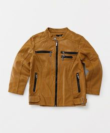 YIYI Garden Leather Jacket - Brown