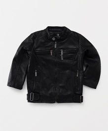 YIYI Garden Leather Jacket - Black
