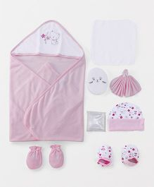 Mee Mee Combo Gift Set Cat Print Pack of 8 - Pink