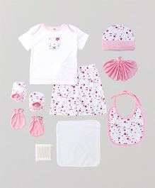 Mee Mee Clothing Gift Set Lovely Flowers Print Pack of 9 - Pink
