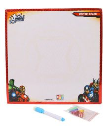 Marvel Avengers 2 In 1 Wooden My First Fun Board - White And Red