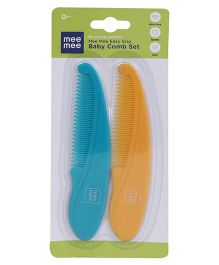 Mee Mee Easy Grip Baby Comb Pack Of 2 - Blue Orange