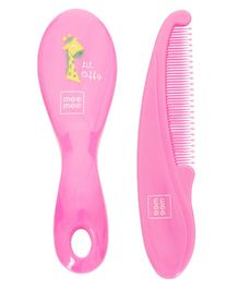 Mee Mee Soft Grip Brush And Comb Set - Pink