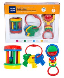 Mee Mee Rattle Set Of 3 - Multicolor