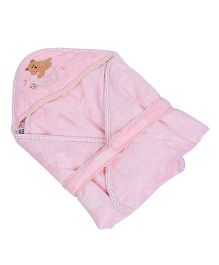 Mee Mee Hooded Wrapper Teddy Bear Patch - Pink
