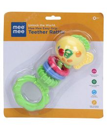 Mee Mee Fish Shape Teether Rattle - Multicolor
