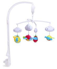 Mee Mee 3-In-1 Musical Rattle Cot Mobile - White