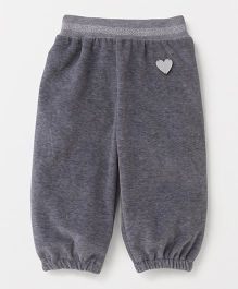 Little Kangaroos Full Length Lounge Pants Heart Patch - Grey