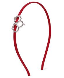 Stol'n Hair Band Studded Crown Applique - Red