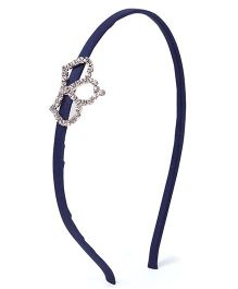 Stol'n Hair Band Studded Crown Applique - Navy