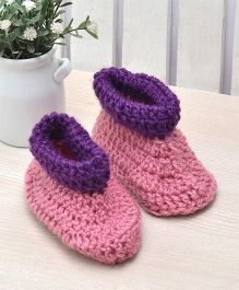 Beebop Crochet Socks Shoes - Pink Purple