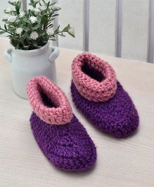 Beebop Crochet Socks Shoes - Purple