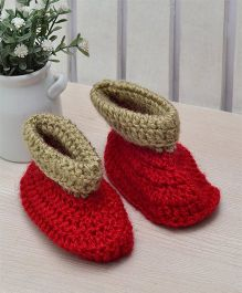 Beebop Crochet Socks Shoes - Red