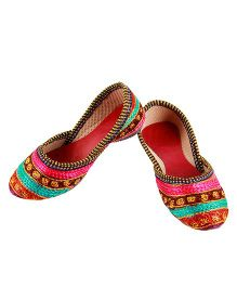 Tahanis Striped Mojri - Multi color