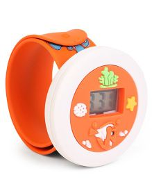Kids Digital Wrist Watch Fish Design - Orange