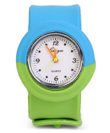 Dual Color Analog Wrist Watch - Blue Green