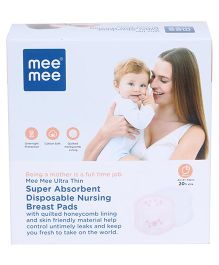 Mee Mee Super Absorbent Disposable Nursing Pads - 48 Pieces