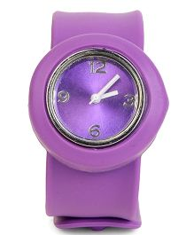 Circle Shape Baby Wrist Watch - Purple