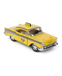 Kinsmart 1957 Chevrolet Bel Air Taxi Toy With Openable Doors - Yellow