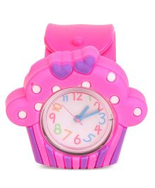 Ice-Cream Shape Baby Wrist Watch - Pink