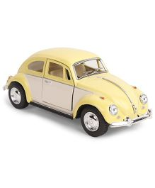 Kinsmart 1967 Volkswagen Classic Beetle Die Cast Pull Back Toy Car - Yellow