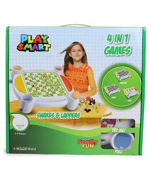Playsmart 4 In 1 Board Game - White & Multicolor