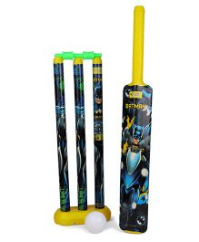 DC Comics Batman Plastic Cricket Set - Yellow