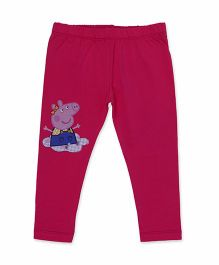Peppa Pig Crop Leggings - Fuchsia Pink