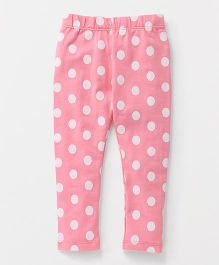 The Kidshop Polka Dot Leggings - Pink