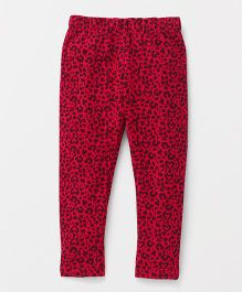 The Kidshop Printed Leggings - Fuchsia Pink