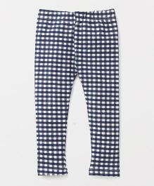 The Kidshop Checkered Leggings - Blue