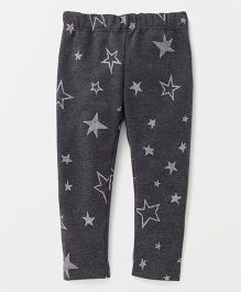 The Kidshop Glitter Star Leggings - Grey