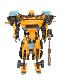 Emob Robot Cum Car With Weapon Accessories - Yellow