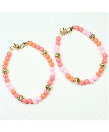 Asthetika Pearl Anklets - Pink