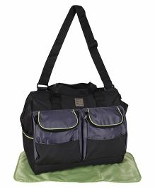 Mee Mee Diaper Bag With Changing Mat - Black
